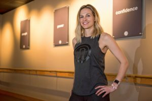 Elizabeth Roberts at the Pure Barre in Northampton on Wednesday, January 17, 2018.